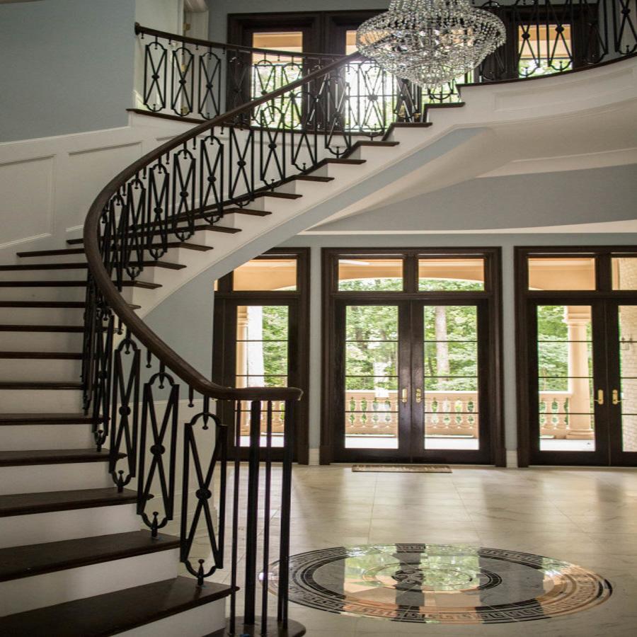 Balustrades Balcony Curved Black Wrought Iron Interior