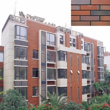 Foshan factory wholesale exterior wall cladding tiles handmade red clay brick