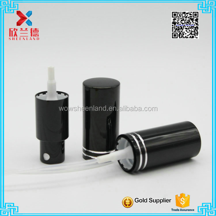 high quality 18mm black perfume sprayer with aluminum cap
