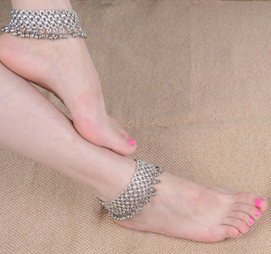 Belly dance chain anklet with bells