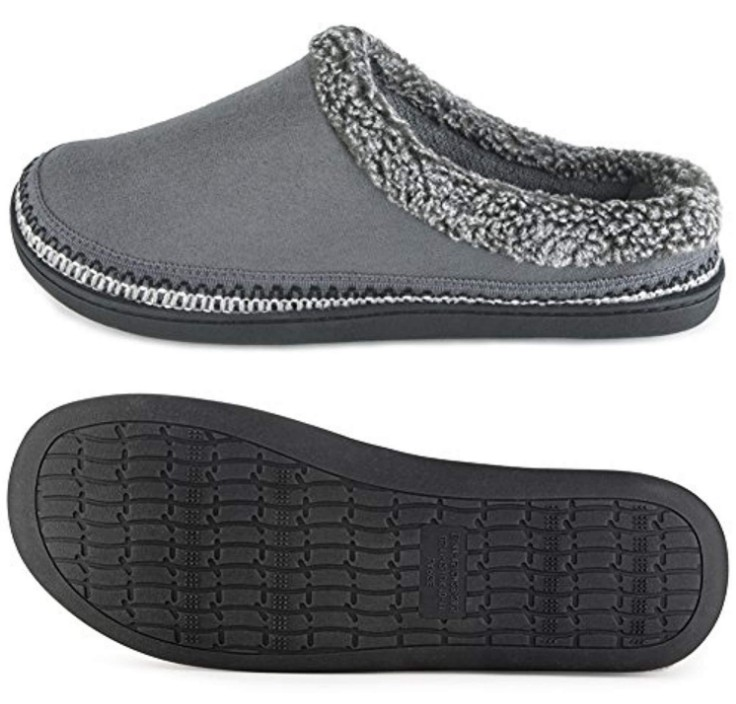 Men/'s Microsuede Devin Slip On Slipper with with Cooling Memory Foam for Indo...