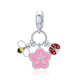 New Arrival 925 Sterling Silver Friendship Flower Bee And Ladybug Pendant Charms fit Women Bracelets DIY Jewelry Colorful Enamel