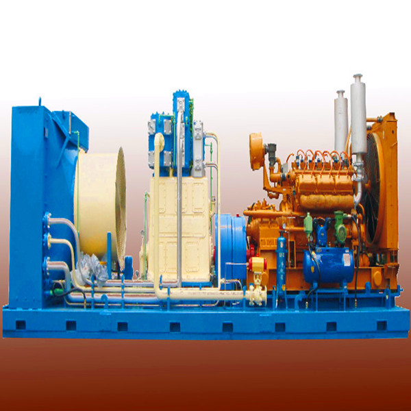 AC power air cooling piston lubricated stationary Fuel/oil well Gas Compressor with large gas displacement