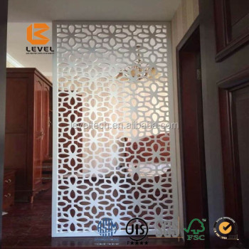 Attractive Cheapest Wood MDF Carved Grille Panels Laser Cutting Partition Screen  Divider