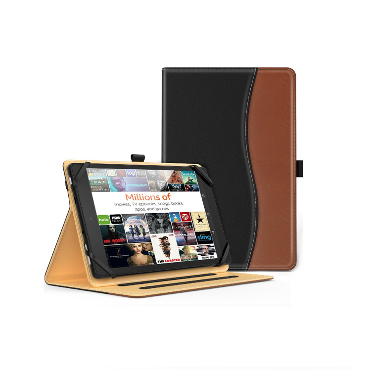 MoKo Universal Case for 7-8 Inch Tablet Folio Cover PU Leather Protective Case with Document Card Slots