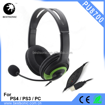 Stereo Sound, Mic, Noise Cancellation, headphone for computer,PS3 Gaming Headset