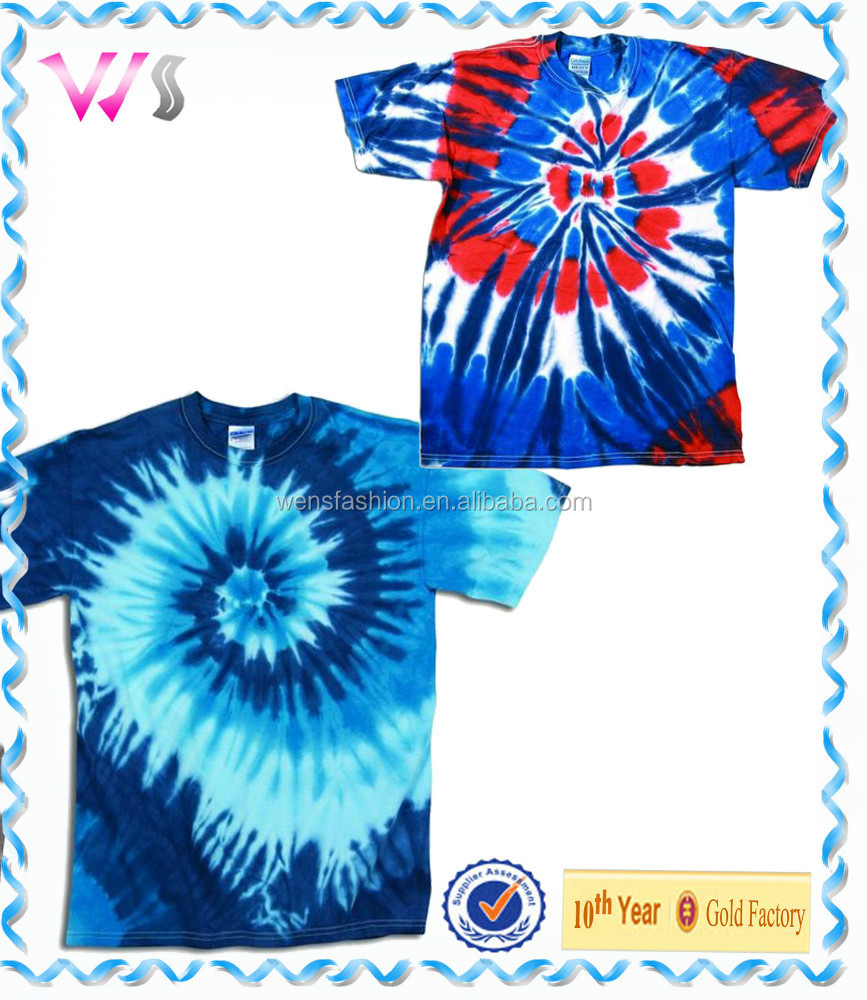 Colorful tie dyed very nice printing contract manufacturing t-shirt