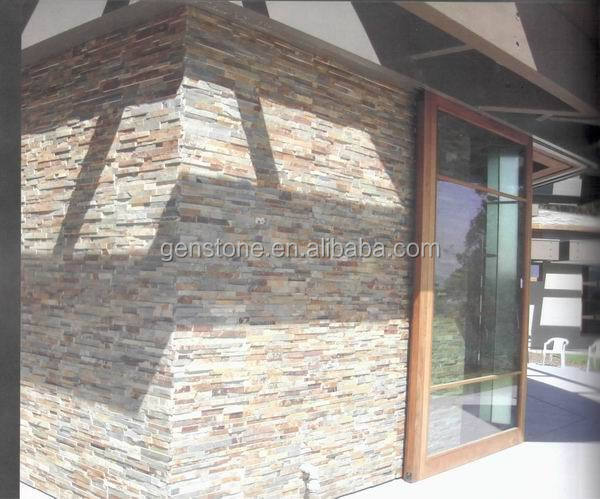 Rouillée Ardoise De Culture Extérieur Mur De Séparation De Carrelage