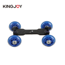 Kingjoy professional Mini Table Top 4-wheel video camera Dolly Slider for Outdoor shooting