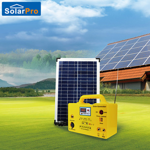 Lighting,MP3 and radio function supported portable 20W solar power system
