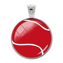 JOINBEAUTY Подвески бейсбольный Баскетбол 25 мм стеклянные драгоценные камни антикварный брелок ручной работы ожерелье подвеска аксессуары SP664(Китай)