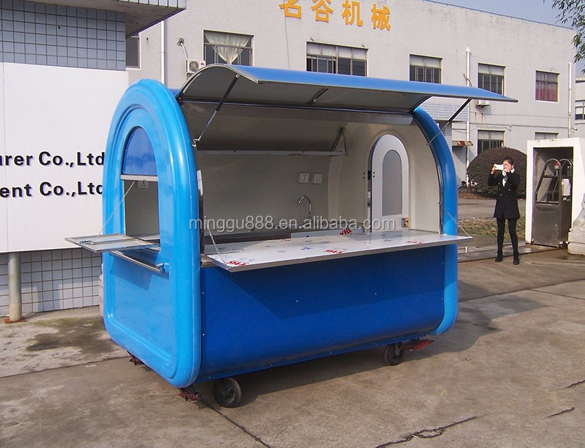 Mobile Hot Food Vending Concession Cart Machine Stall Store With Wheels