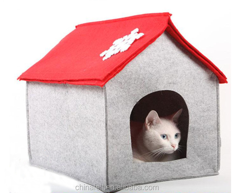 durable china supply customized felt cat house