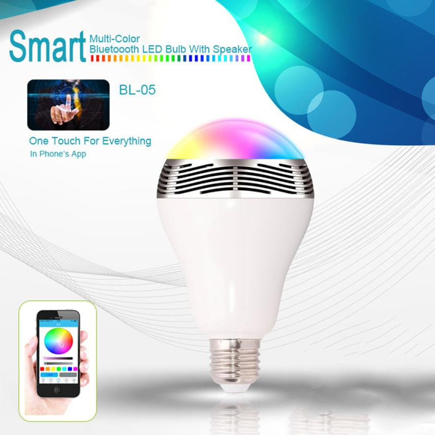 2 in 1 Colorful Light Blub in Wireless Speaker Portable Bluetooth Music Audio Speaker Lamps <strong>bulb</strong>