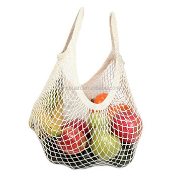 Reusable Grocery Produce Bags Cotton Mesh Ecology Market String Net Ping Tote Bag Kitchen Fruits Vegetables