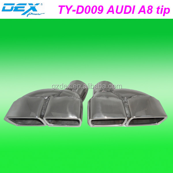 auto spare tuning car racing exhaust muffler tip for AUDI A8
