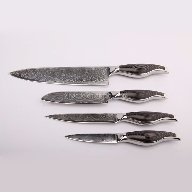 Amazon hot selling 67 layer VG10 damascus steel knife set with block