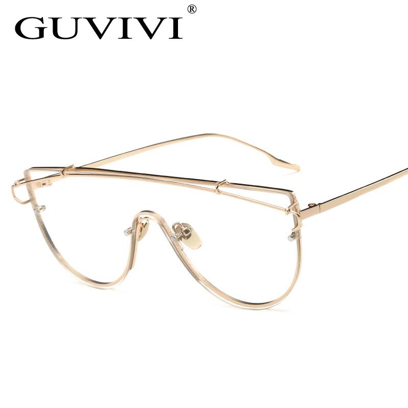 2017 lente transparente China al por mayor oro plata gafas ópticas ...