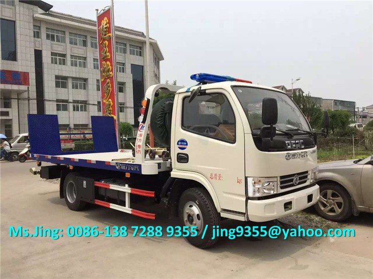 2019 New Dfac Light Wrecker Tow Truck 3 Ton Flatbed Towing Truck