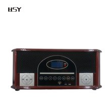 2018 hot wooden nostalgic DAB+Radio & FM Radio with DVD Player/USB Player/BT