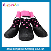 WPS05 LANLE 2016 patent products dog accessoires pink dot dog rain boot waterproof dog socks for snow