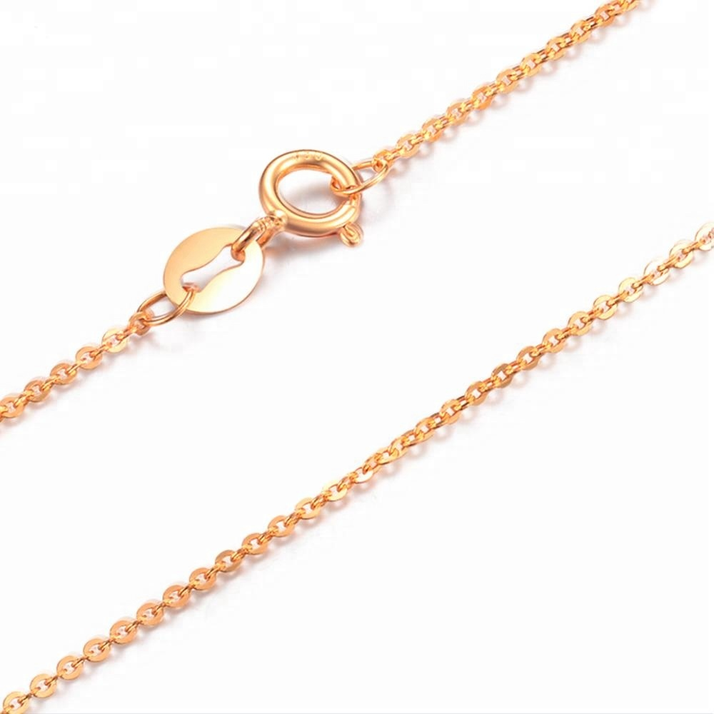 8449a19b7416c Factory Price Concise Style 18k Gold Necklace For Women And Men - Buy 18k  Gold Necklace,Concise Style Gold Necklace,Factory Price Gold Necklace ...