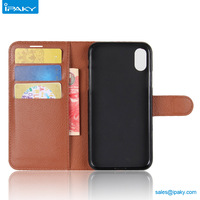 Credit Card Holder Flip Magnetic Wallet Mobile Cover Pu Leather Cell Phone Case For I Phone X 8 7 6