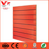 Orange color MDF melamine laminate E2 grade slat board for shop decoration