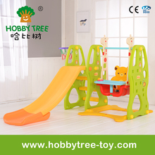Playgound Indoor Small Plastic Slide and swing