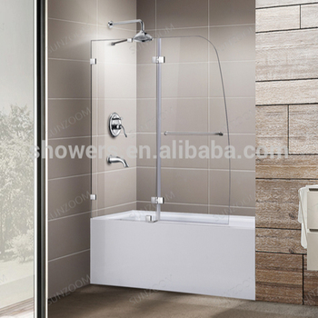Sunzoom Frameless Tub Doors Glass Bathtub Doors Shower Door Tub