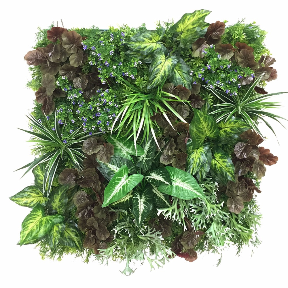 Customized Durable Vertical Green Wall, Real Touch Plant Panel ( GW - B02070 )