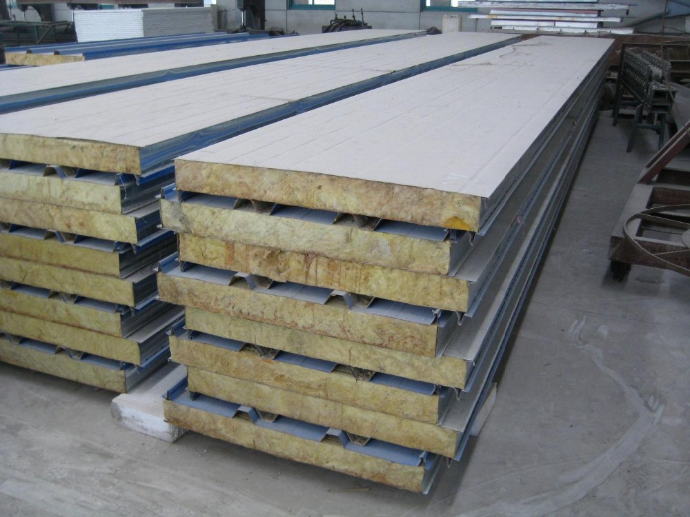 Mineral Wool Sandwich Panel : High quality rock wool sandwich panel roof insulated