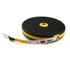10m 30m 50m China Wholesale Measurement Tools Long Distance Elastic PVC Fiberglass Tape Measure