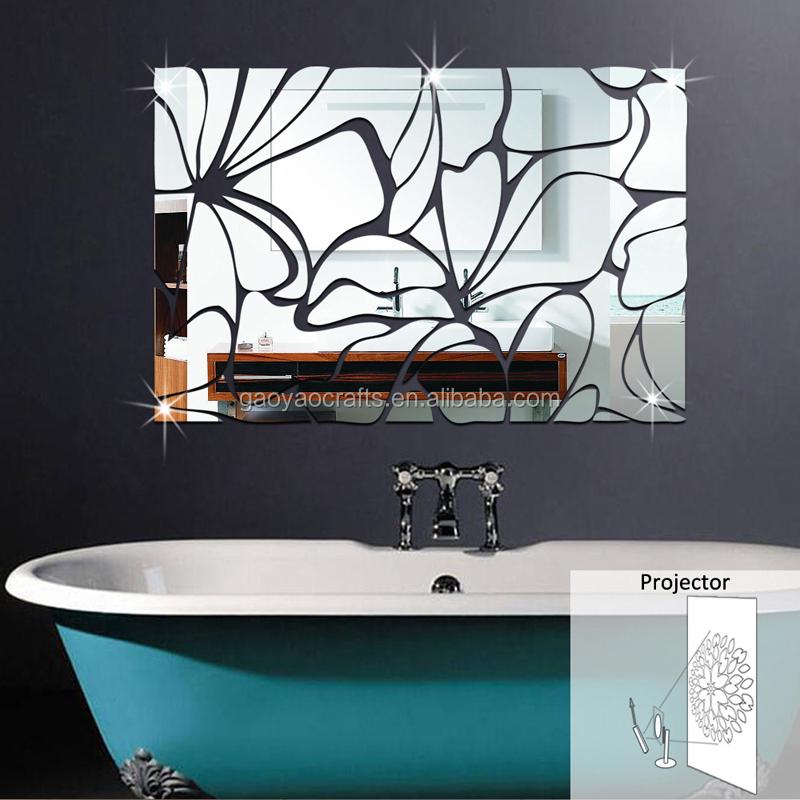 flor diy espejo de pared decoracin del hogar decoracin de bao sala de estar tv de