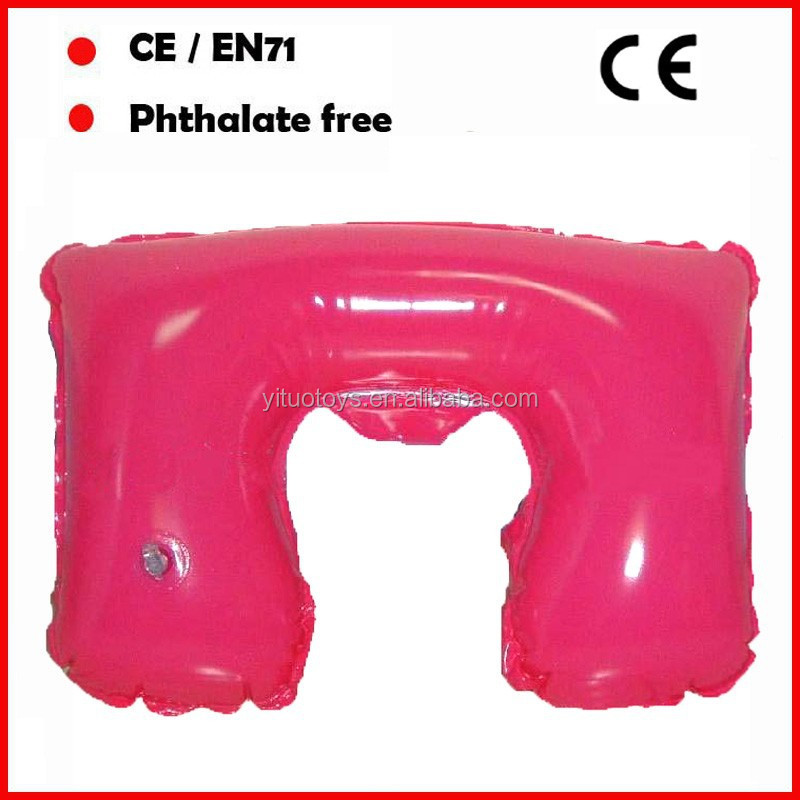 Highly quality Blue color pvc inflatable pillow/pvc clear plastic pillow bag/pvc inflated pillow