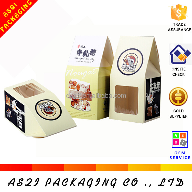 made in china custom food packing house shape gift box