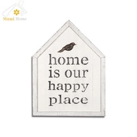 House shape chic wooden signs hand painted wood plaque