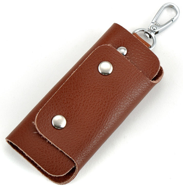 Women&Men red genuine  Leather high quality car key holder 2015 New Arrival casual cow leather Key Wallet