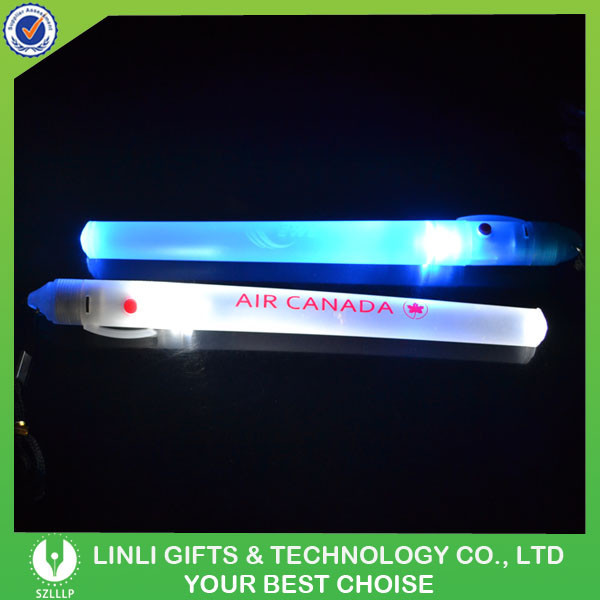 Customized Plastic LED Flashing Promotional Wand For New Year, Colorful Light Up Promotional Wand For Gifts