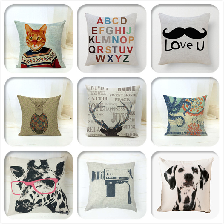 Hot Sale Multi Print Linen Sublimation Outdoor Cushion Cover Wholesale Car  Seat Outdoor Chair Cushions Cover