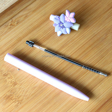 Hot selling pen silicone material flower pen shape pen for promotion