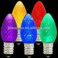Ul E12 110v Led Bulb C7 Transparent Smooth Replacement Bulbs Red ...