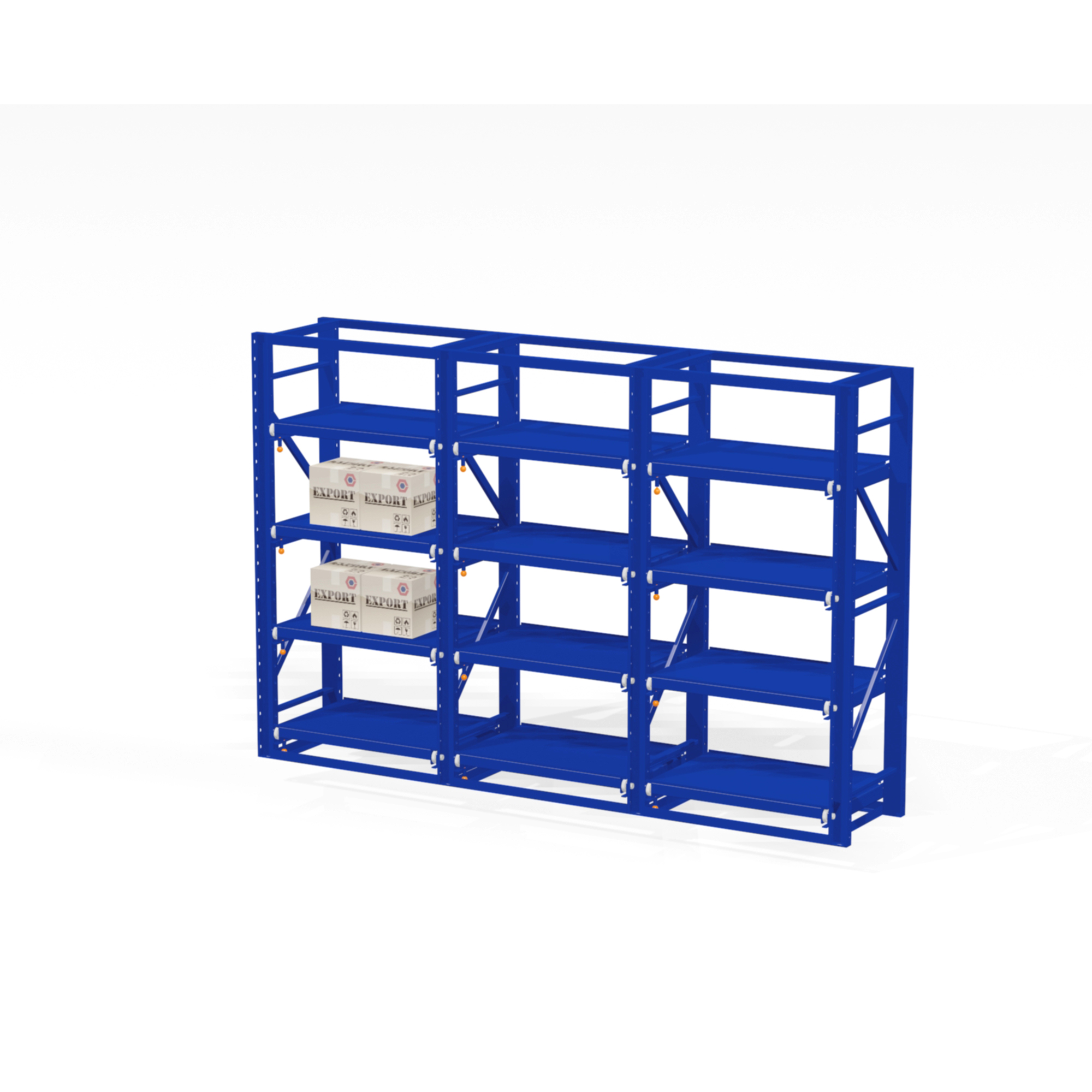 Adjustable Industrial Steel Drawer Racking for Storage