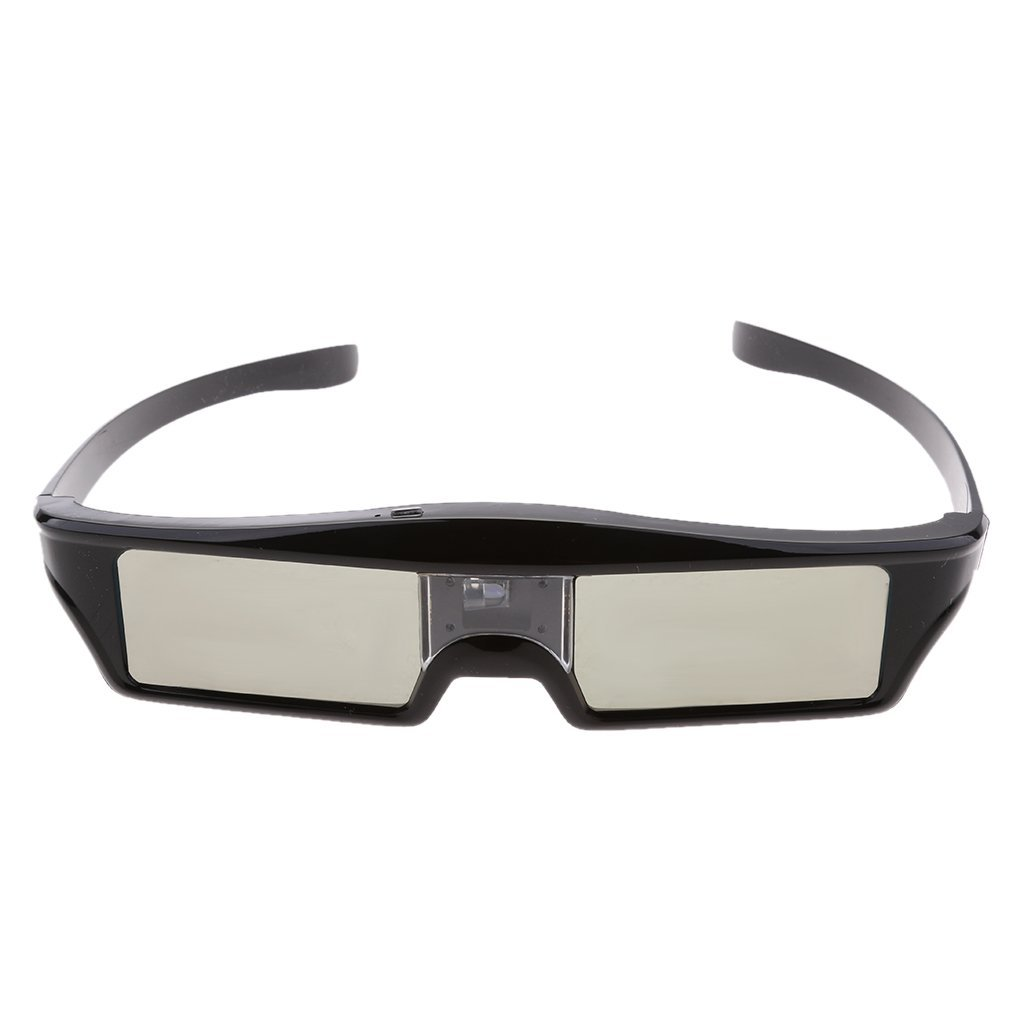 Fenteer Ultra-Clear HD 144 Hz DLP LINK Active Rechargeable Shutter 3D Glasses for All 3D DLP Link Projectors