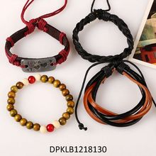 Classical Designs Fashion Luxury Leather Men's Clasp Bracelet 2016 Wholesale Jewelry