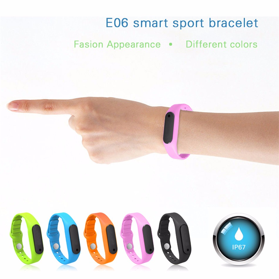 E06 Smart Wristband Call Remind Fitness Tracker smart Bracelet