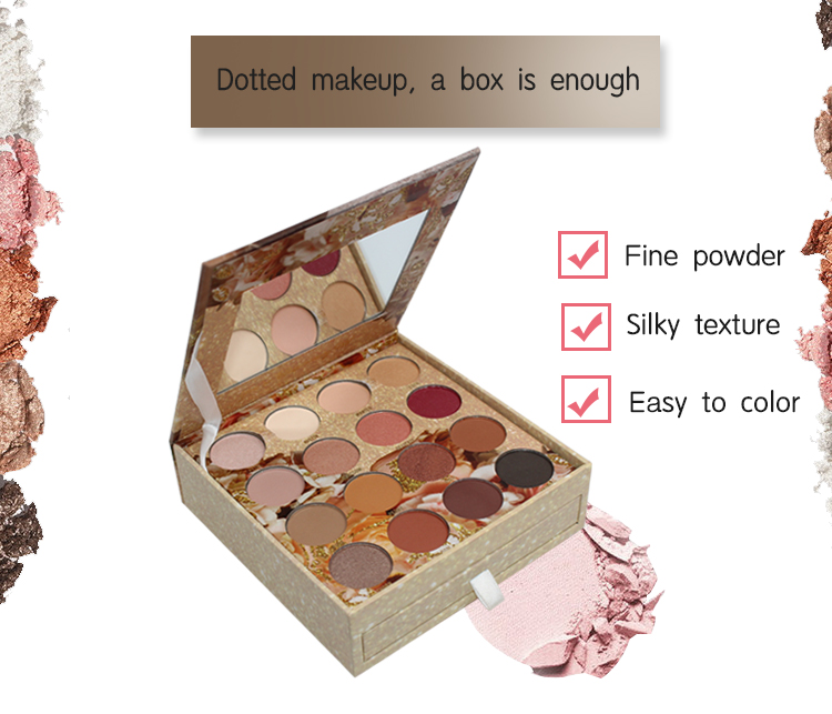 China high performance shimmer 16 color wholesale private label eyeshadow pallette custom makeup palette eyeshadow