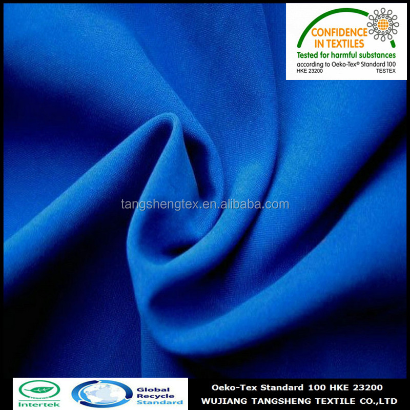 100% recycled polyester peach skin fabric for garment