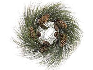 Buy 2 Green And Brown Wispy Long Needle Pine Christmas Wreaths With Pine Cones 24 In Cheap Price On Alibaba Com