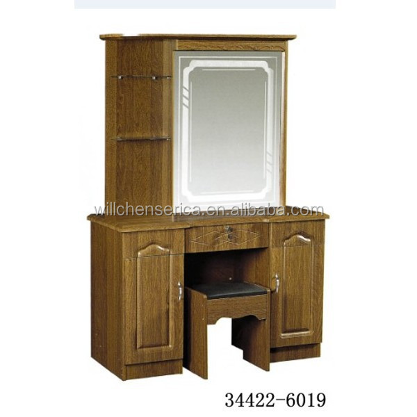 2015 New Design 34422 6019 Wooden Mdf Golden Dresserdressing Table